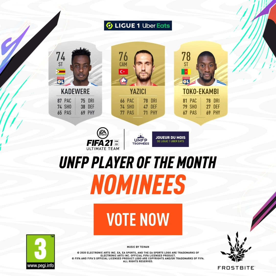 9️⃣ goals & 5️⃣ assists between them in @Ligue1UberEats ⚽🎯  It's time to vote for December's @UNFP #POTM ➡    #TropheesUNFP #FUT21