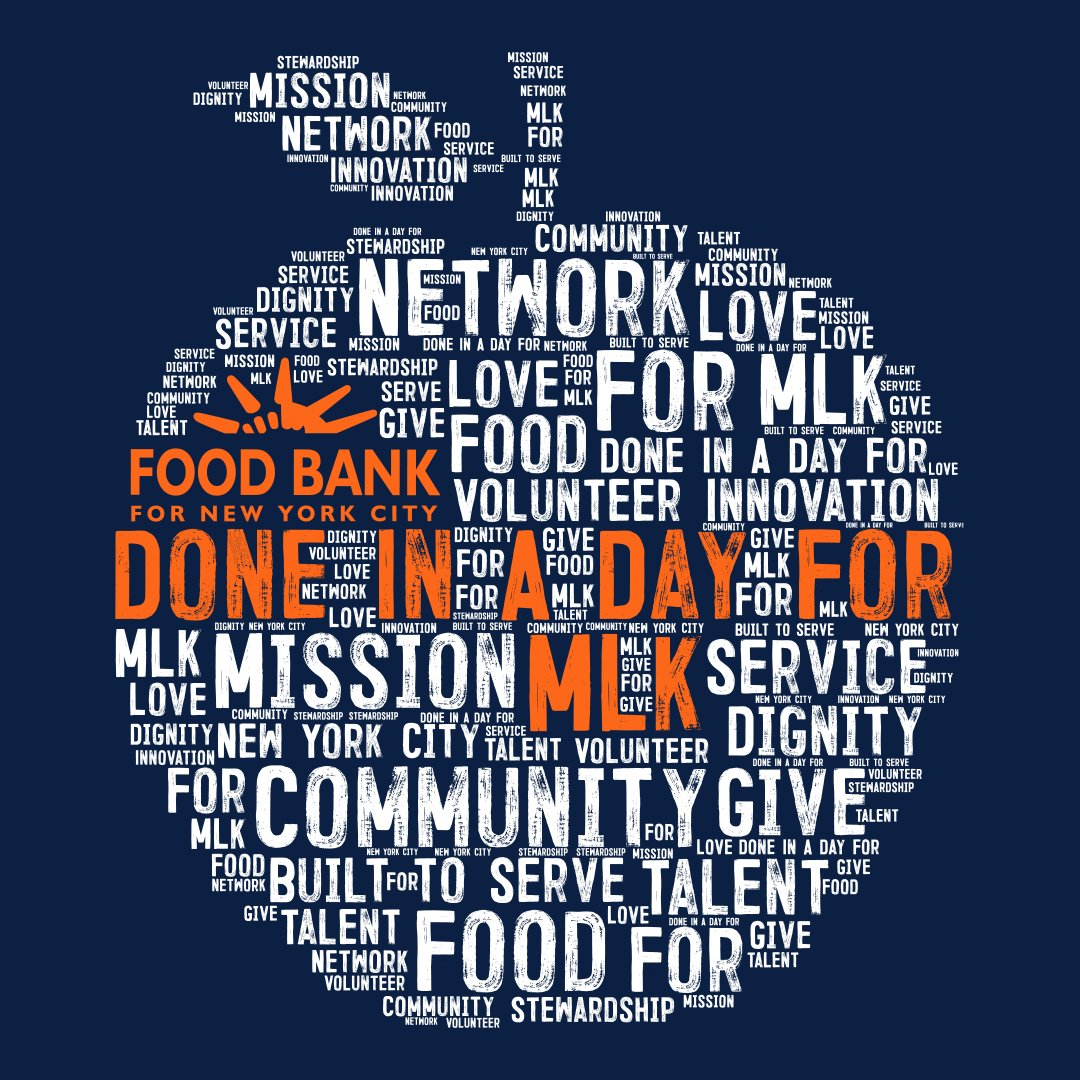 In honor of Dr. Martin Luther King Jr.'s legacy, Food Bank will host a Virtual Day of Service on Monday, January 18. During this event, volunteers of all ages can join from home via Zoom, uniting in an effort to write personal letters of hope to New Yorkers in need.