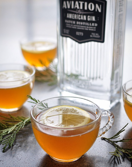 "Who is Toddy and why are they so Hot? Asking for a friend. #NationalHotToddyDay 🍵 ""G & Tea Toddy"" 1.5 oz Aviation Gin 2 oz Earl Grey Tea 3/4 oz lemon juice  1 teaspoon sugar Lemon Slice Garnish"