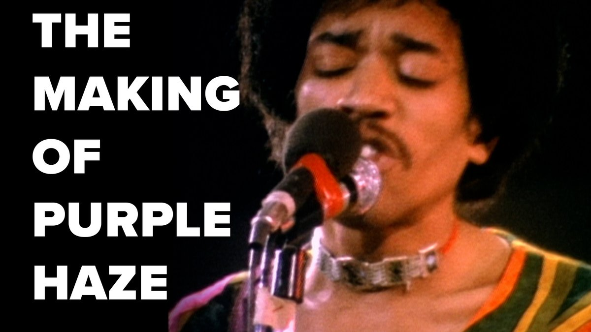 """Ten pages of lyrics & several experimental riffs led to the iconic track """"Purple Haze"""". Is it your favorite @JimiHendrix song?"""