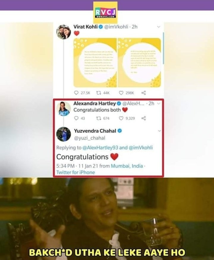 @yuzi_chahal got no chill. #dhanashreeverma do something. #DhanaSaidYuz #KingKohli #Kohli #AnushkaSharma #babygirl