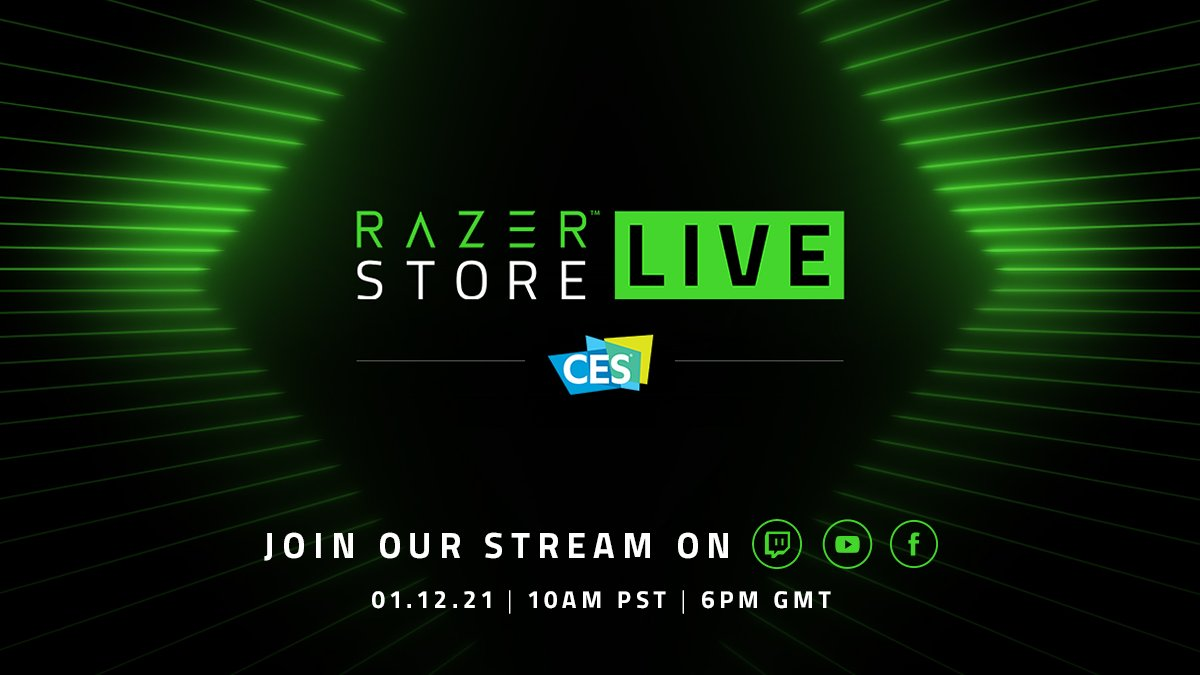 I love @Razer more than I love soup.  Watch the RazerStore Live CES Edition January 12 at 10 AM PST. It will be packed with exciting product unveils, exclusive content, a special guest appearance, and more. For more details and to enter their giveaway:  #ad