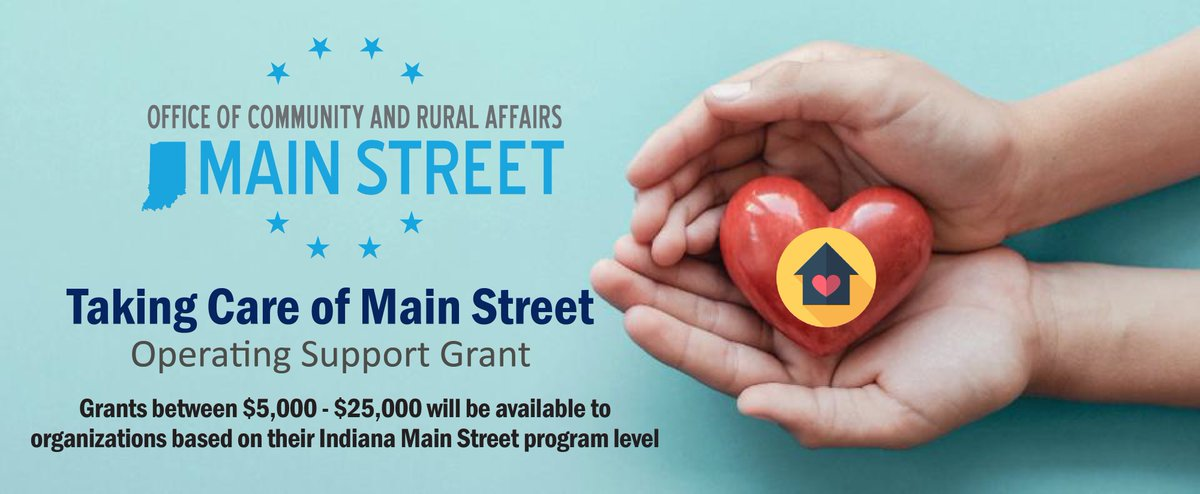 Today, @LGSuzanneCrouch & the @IndianaOCRA   launched the second round of Taking Care of Main Street, a grant program which provides funding for operational support and recovery strategies to Indiana Main Street programs. To read the full release➡️