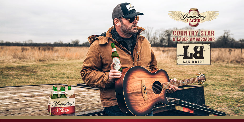"Did someone say ""More Beer?"" Welcome to the family, @leebrice! Excited for a year full of collabs filled with Yuengling Lager, loud music and good times. 🍻 https://t.co/kCR5D6jfpW"