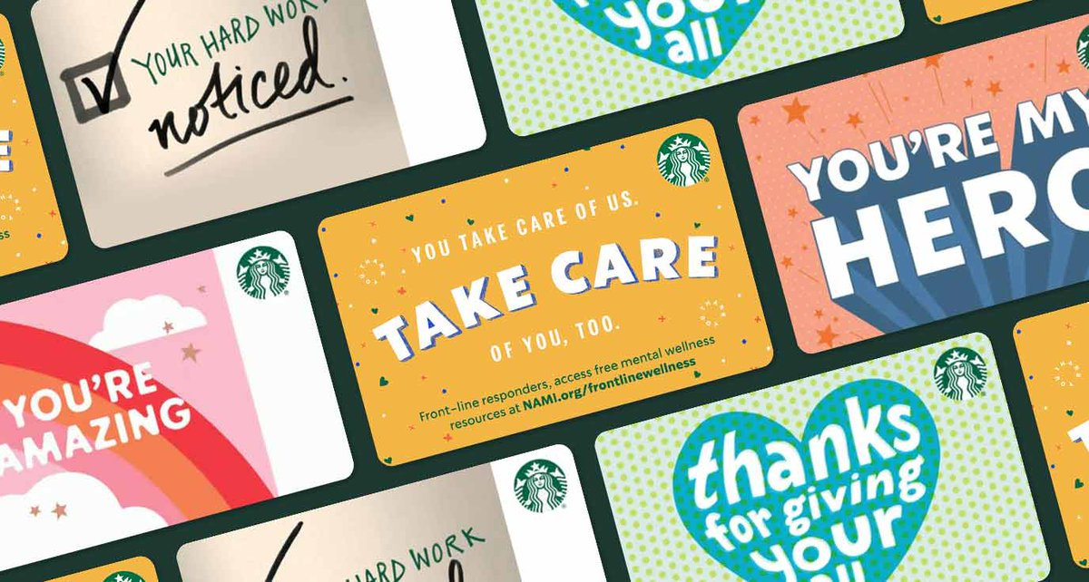 When you purchase an eGift card by the end of today from our Recognition category, Starbucks will donate $5 to support @NAMICommunicate and the mental wellness of front-line responders helping our communities during COVID-19. Shop now: