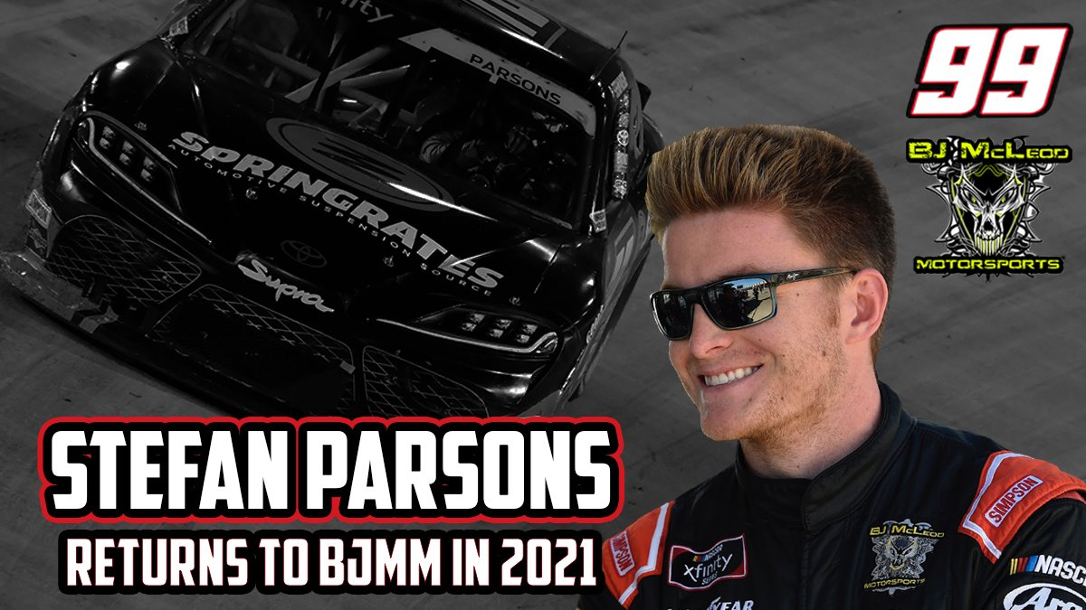 Congrats @StefanParsons98! You have worked hard for this opportunity! We can't to see what you do in the No. 99 car.