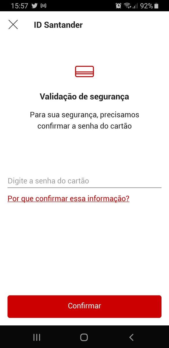 @santander_br está pedindo senha do cartão em transferência no app ou é golpe? #Santander #senha #Golpe https://t.co/Fo4E9f6MJh