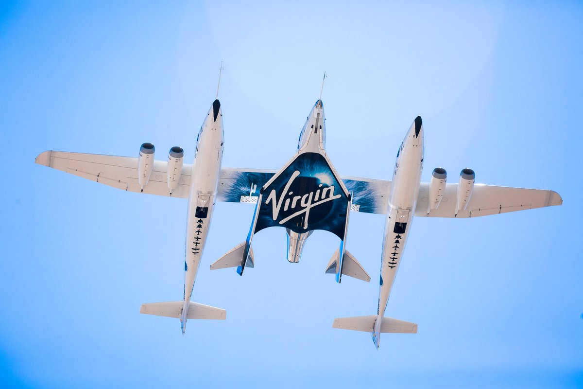 """Eve is immortalized through our beautiful carrier aircraft, VMS Eve, which launched in 2008. As Richard said: """"There's no way you can have a mothership and not name it after your mother!"""""""
