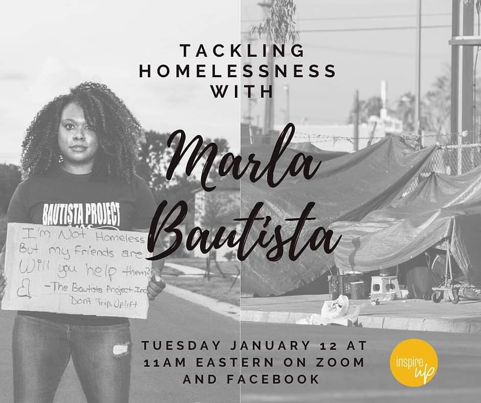 Can we have a conversation about how we are uplifting our communities, defining patriotism, and the example we our setting for our future? Join me as I chat with Jess from Inspire Up Foundation (FB), Tuesday, January 12th @ 11 AM EST.  #DontTripUplift #endhomelessness #2021goals