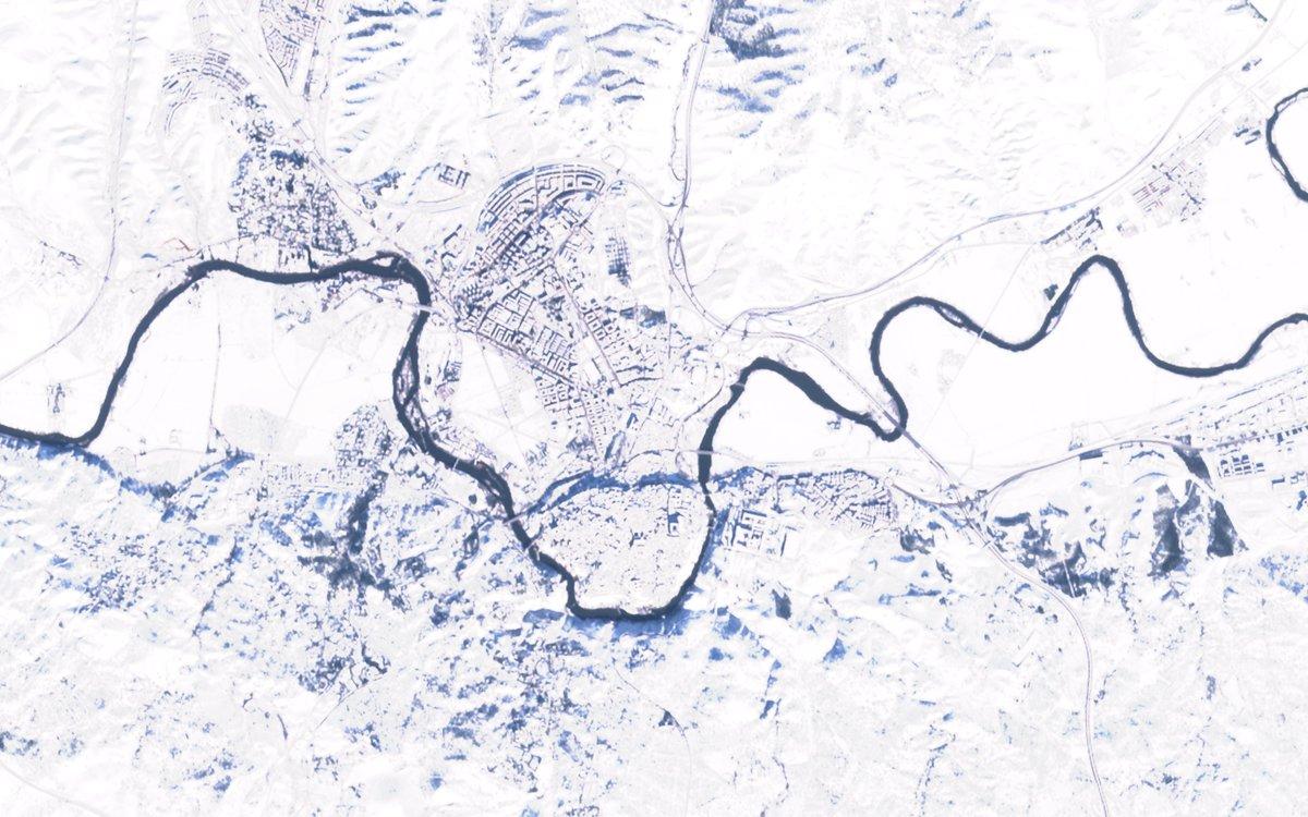 Vamos con #Toledo ❄️ #Filomena Satélite #Sentinel2 de #Copernicus 🛰️ Full Size -> flic.kr/p/2kribzd 🧐