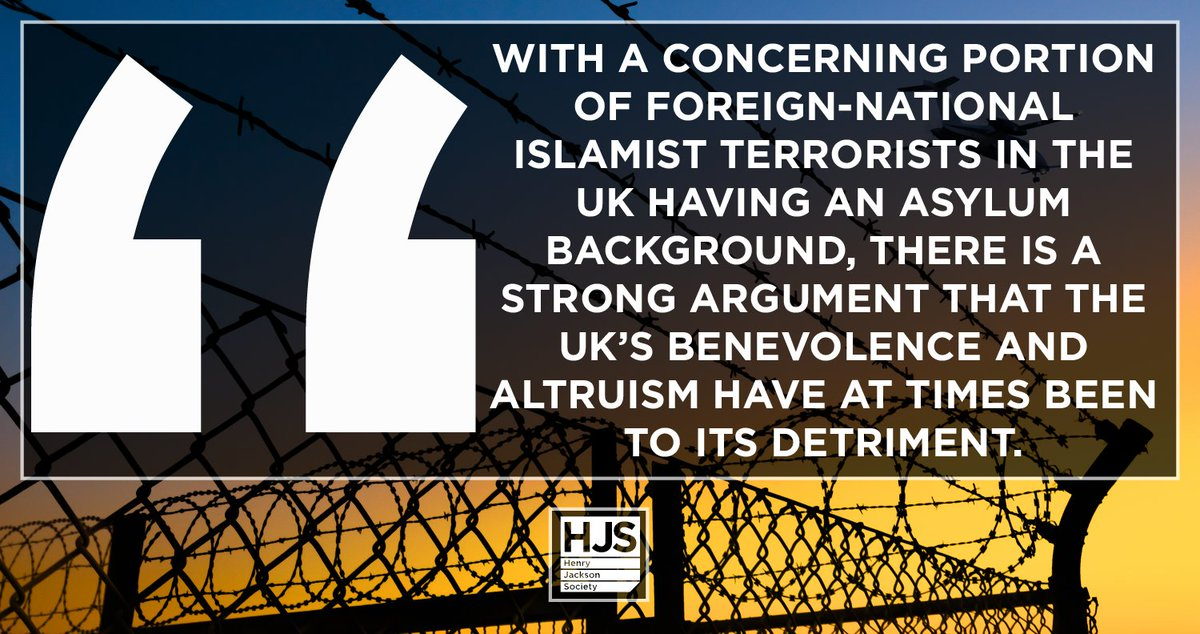 """As we move forward from Brexit, the UK should reform its border security 🇬🇧 """"For too long, the individual interests of foreign convicted terrorists have been prioritised over collective public safety."""" - Dr @rakibehsan Read our report: henryjacksonsociety.org/publications/t…"""