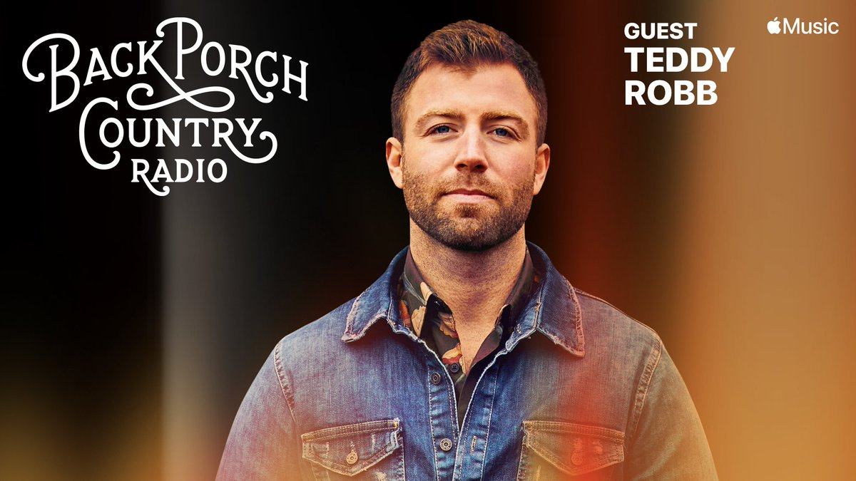 Look who's hangin' on the porch with me this week, @teddyrobb Join us on Back Porch Country radio @applemusic M-Th 8p (CST) #CountryMusic #applemusiccountry #applemusic #teddyrobb #backporchcountry
