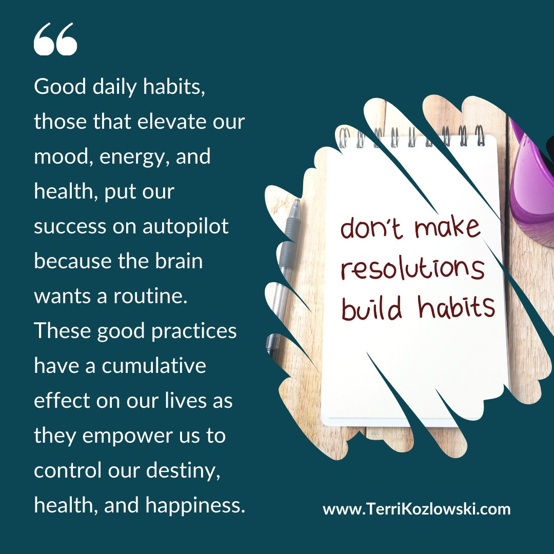 Good daily #habits affect our #destiny, #health, and #happiness. #MondayMotivation #SoulSolutions #GrowthMindset #PersonalGrowth #PersonalDevelopment #MindsetMatters #OvercomingObstacles #TransformYourMind #TransformYourLife #GrowthTips #ChooseLove #ChooseWisely #ChooseHappiness https://t.co/RmEclNHP2k