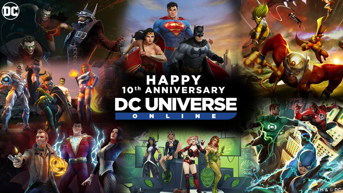 It's @DCUO's 10th anniversary. Wow.  I make a living talking games, and that often means, I dip into nostalgia and tell you old stories about Metal Gear Solid and Death and Return of Superman.  However, there's been no modern game that's meant more to me than DCUO.  A thread...