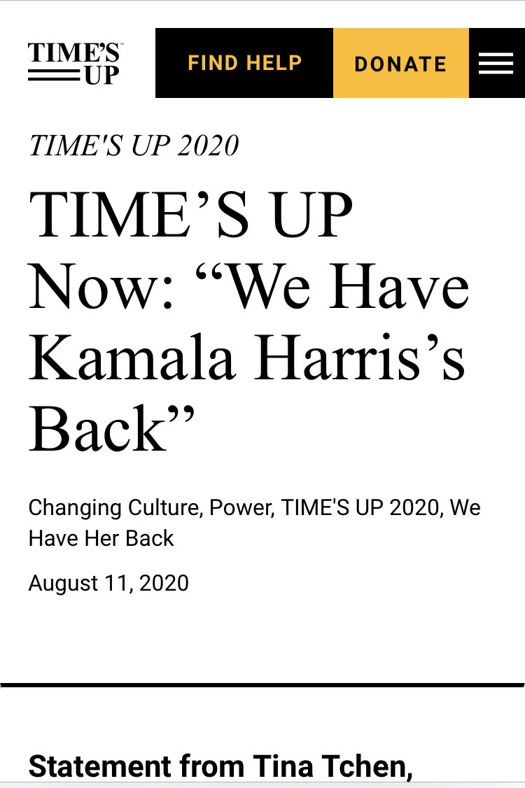 OK, so #ACLU and #TimesUp uses #WeHaveHerBack and #VoteForHer movements to help Kamala Harris become the new Vice President. In exchange, Harris lets Kaplan and ACLU's people take positions in White House. Fair enough.