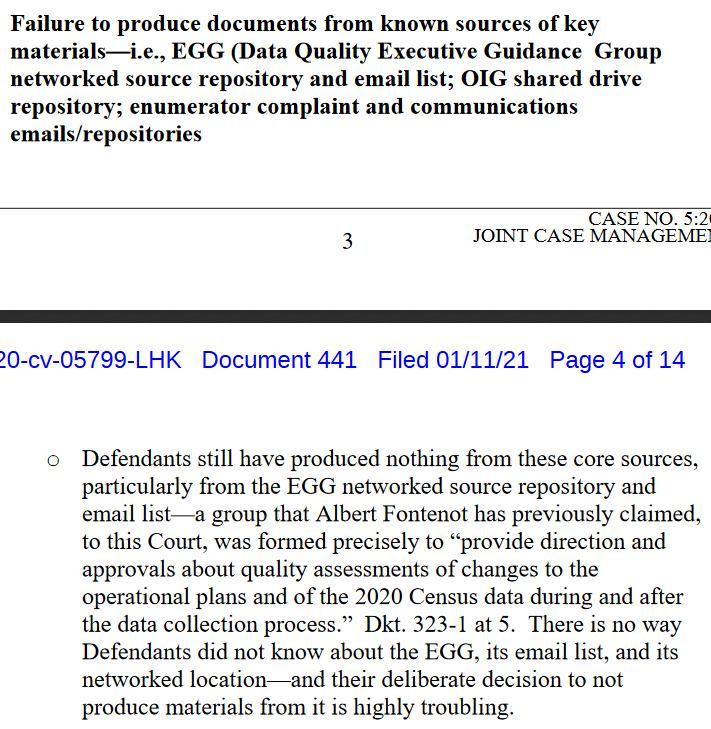 NEW: With just over a week of evidence gathering left, the Trump administration has not yet turned over key internal documents about the 2020 census for the National Urban League-led lawsuit over census schedule changes, plaintiffs say