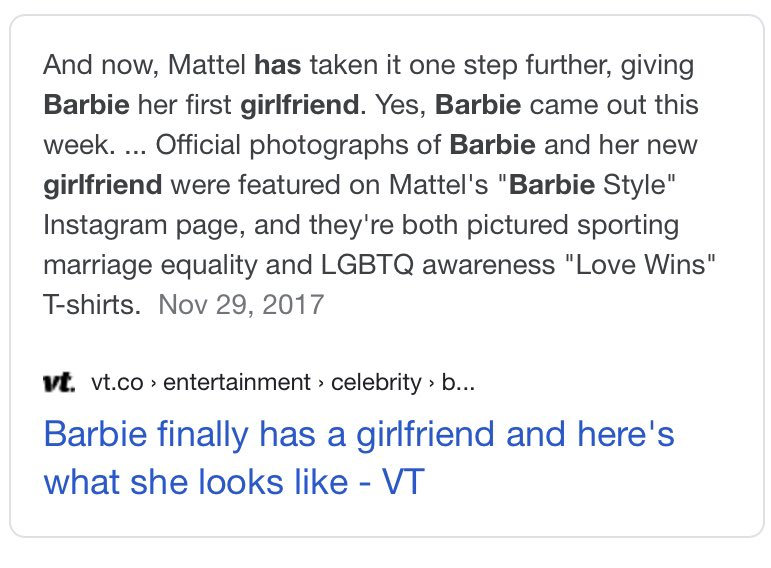 Replying to @kissevermore: JUST LEARNED BARBIE HAS A GIRLFRIEND