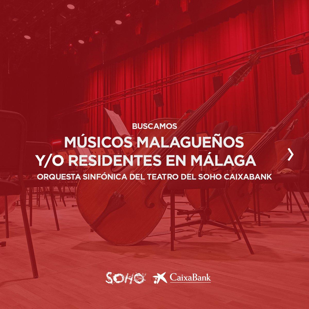 Replying to @TeatroDelSoho: ¡¡¡Convocatoria!!! Buscamos a #músicos malagueños y/o residentes en #Málaga. Más info, ⬇️.