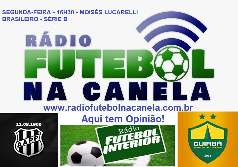 Ao vivo agora Ponte Preta x Cuiabá em parceria com a Rádio Futebol Interior! Clique e ouça em nosso site ou baixe nosso aplicativo: https://t.co/i1aVfwPt2c  Ouça no aplicativo RadiosNet: https://t.co/cb63vUK7xd https://t.co/cTonuOJW9X