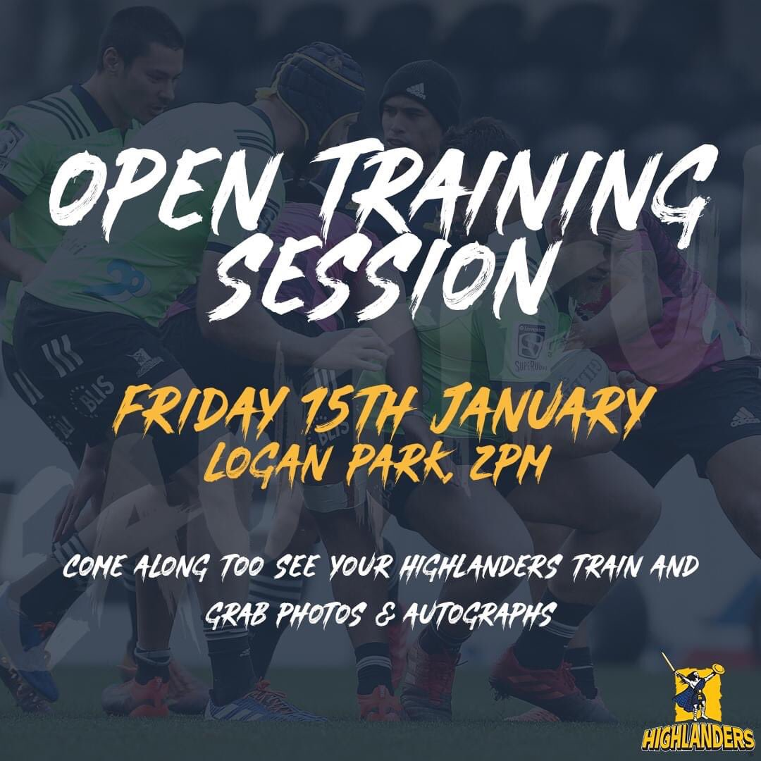 Open training session this Friday at Logan Park! Come along to watch your 2021 Highlanders train in the first week of preseason 💥 Kick Off: 2pm  The first photo & signing opportunity of the new season 📸 https://t.co/XUsD0j1F5z
