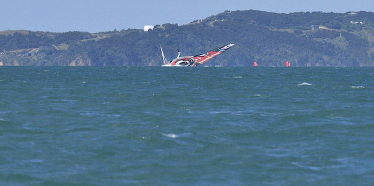 America's Cup 2021: Team New Zealand capsize in practice race  https://t.co/6qv1FtP9zn https://t.co/KV6xQ3EhUu