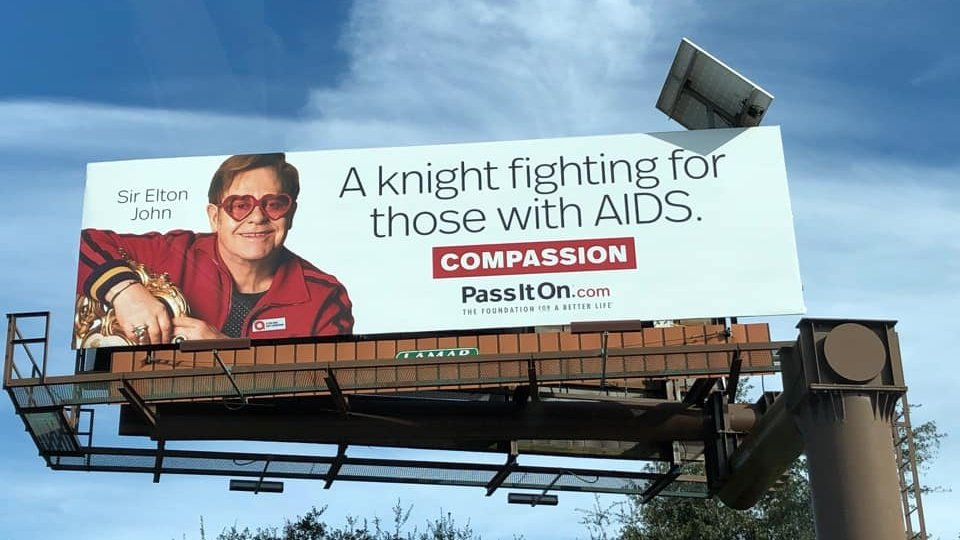 """No one should suffer from stigma, fear or lack of access to treatment anymore – everyone deserves the right to a healthy life."" @eltonofficial  Help us spread love and compassion to those in need by sharing your story of compassion using #Compassion #PassItOn ❤️"