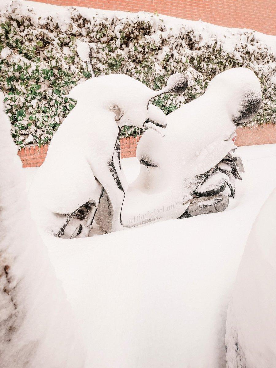 🛵      ❄️  ___ #Madrid #MadridNevado #MadridBajoLaNieve #quedateencasa #Apocalipsis #nieve #Filomena #spain #espana #FelizLunesATodos #happyMonday #frozenlandscapes #frozen #FelizLunes