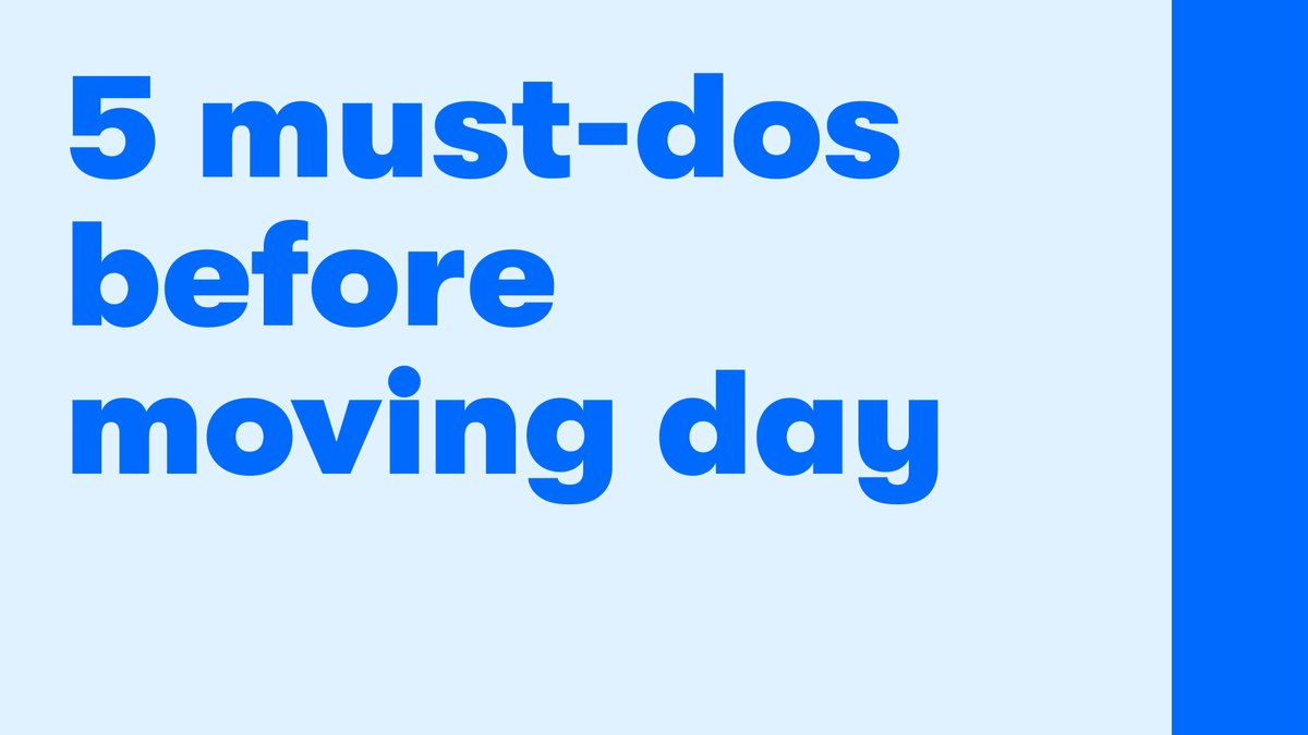 Are you calm and collected on moving day or are you normal? Either way, we've got you. Plan ahead with these tips.