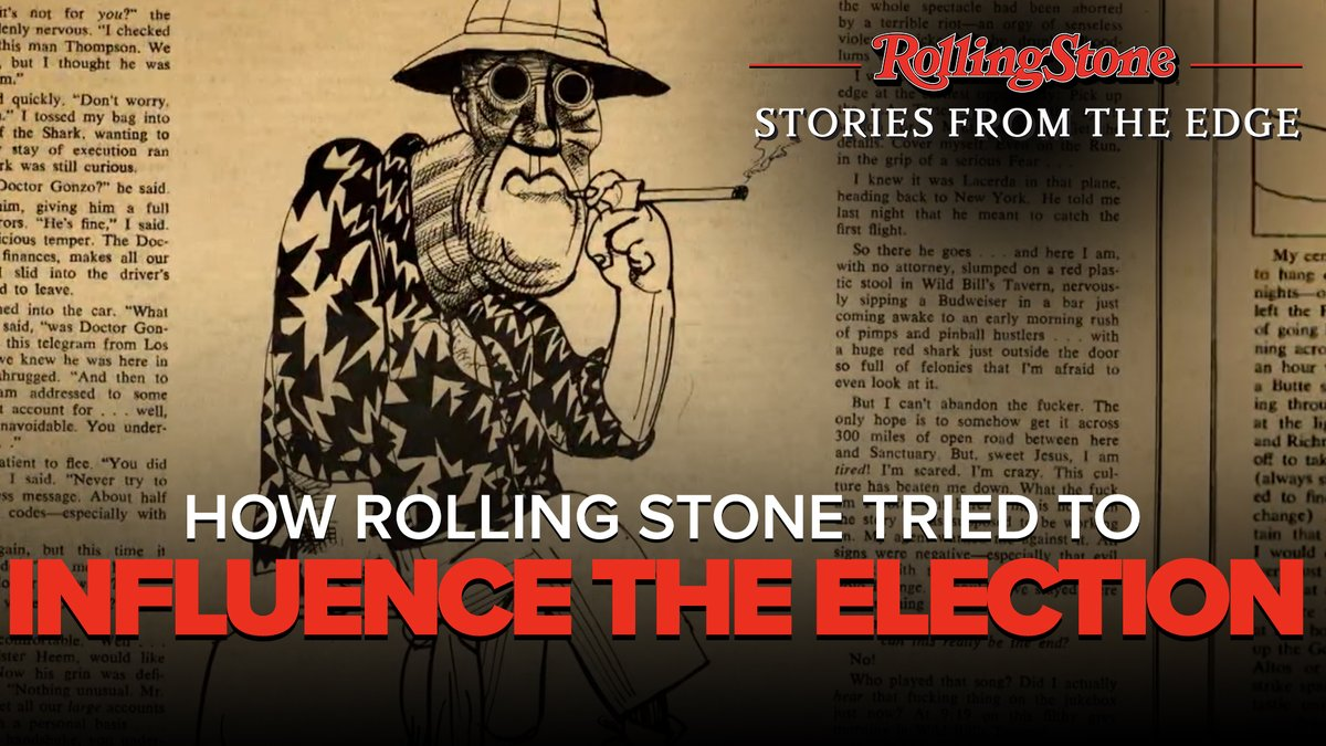 """How do you get the """"counter culture"""" interested in the election? Get the guy used to covering motorcycle gangs & doing drugs to cover it. @RollingStone"""
