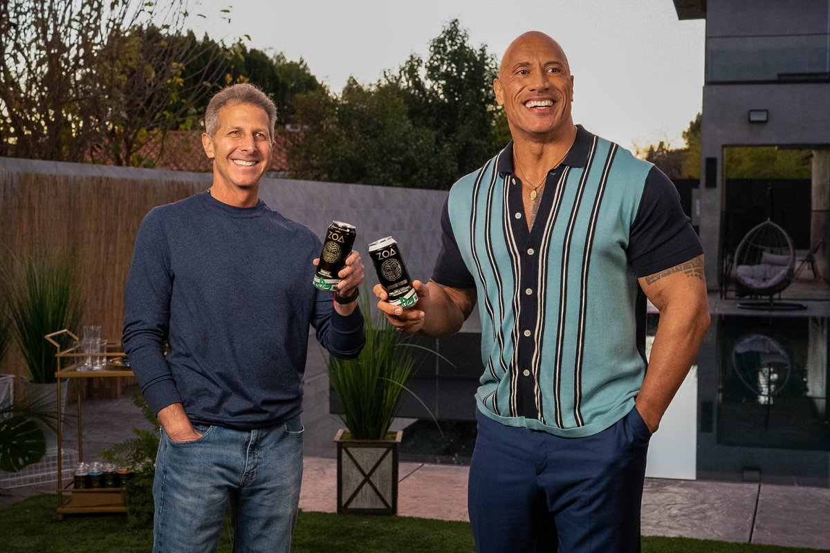 Beyond excited to announce today our exclusive distribution agreement with a team including @TheRock on the new, better-for-you energy drink, @ZOAenergy.
