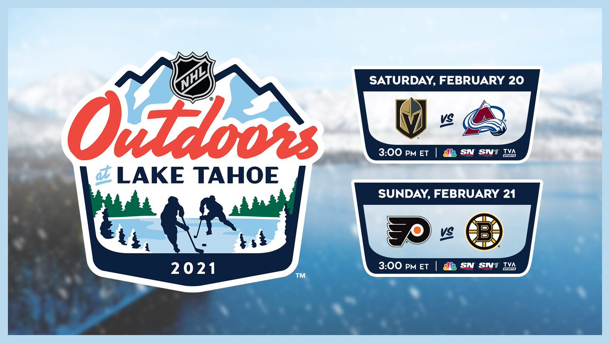 """NHL Public Relations on Twitter: """"The NHL today announced a new event for the 2020-21 regular season, the NHL Outdoors at Lake Tahoe, which will feature two regular-season outdoor games along the"""
