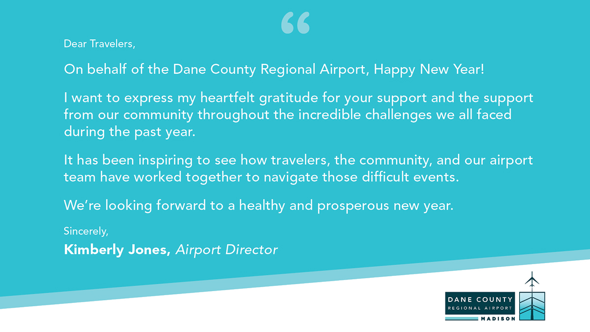 With 2020 thankfully behind us, MSN Airport is looking forward to great things to come in 2021. Our Airport Director, Kim Jones, shared some of her thoughts.  #MSNAirport #2021 #Travel #FlyLocal