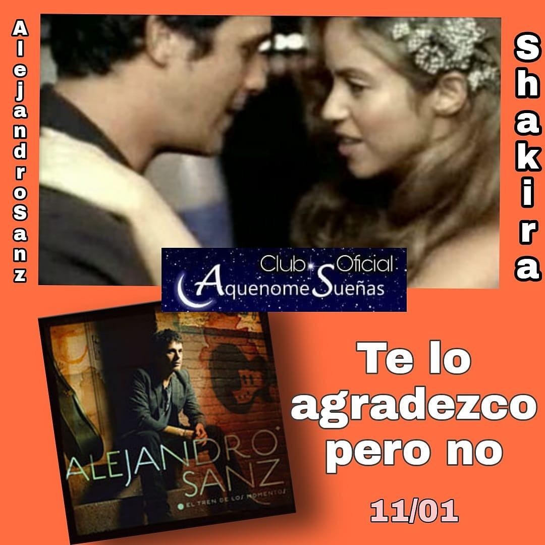 Hoy recordamos que hace #14Años se estrenó el videoclip de #TeLoAgradezcoPeroNo de @alejandrosanz en colaboración con @shakira 🎬🎶🎬🎶 #AquenomeSueñas #AlejandroSanz