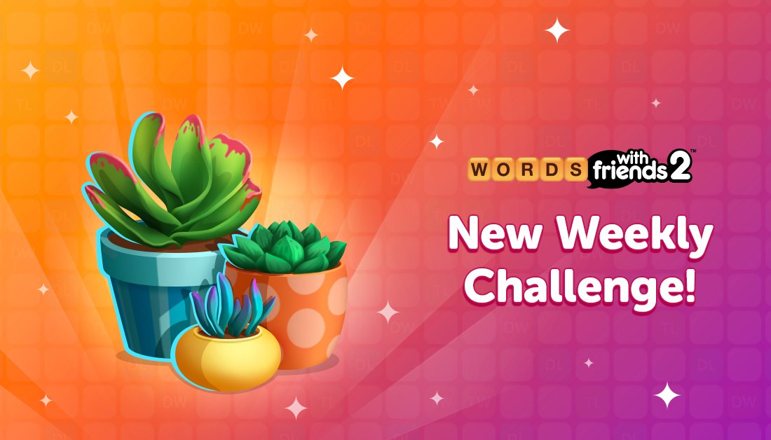 Say aloe to @WordsWFriends new weekly challenge! It's thyme for you to earn the Houseplant Badge!   We're rooting for you: