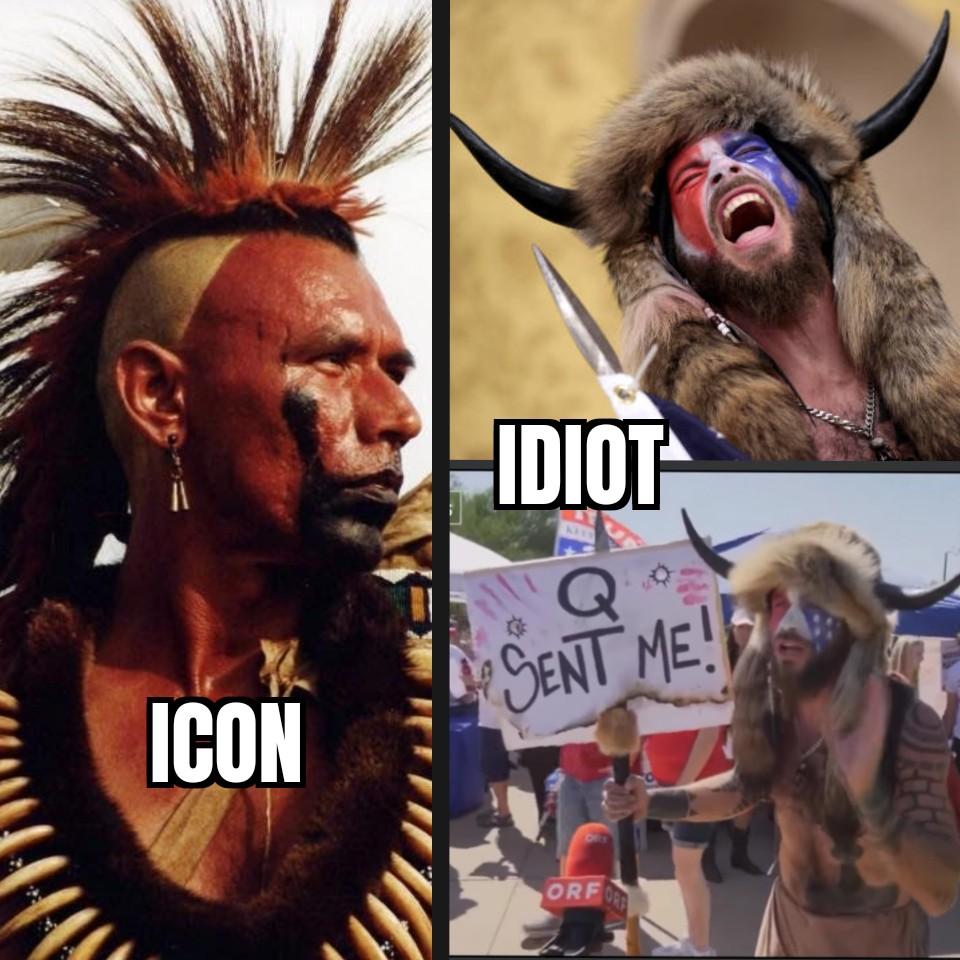 Icon vs. Idiot #danceswithwolves #wesstudi #kevincostner #jakeangeli #capitolhill #capitolriots