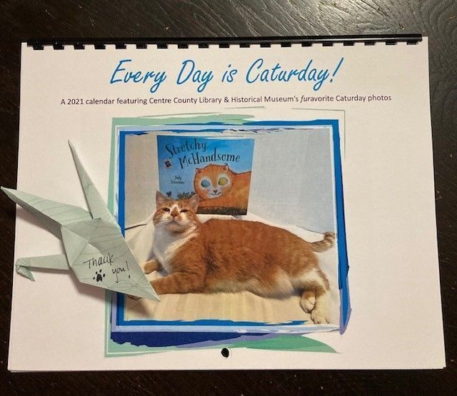 Librarians supporting libraries!  Thank you @centrecolibrary for making every day #Caturday! This one will hang in the Engineering Library!
