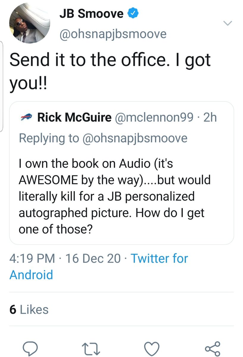 "@ohsnapjbsmoove JB...back on 12/20, I tweeted you about getting a personalized autographed picture. You replied ok & asked me to send the request to the ""office"". I sent an email to your website but haven't heard anything. Was that the right place to send it? Thanks man!"