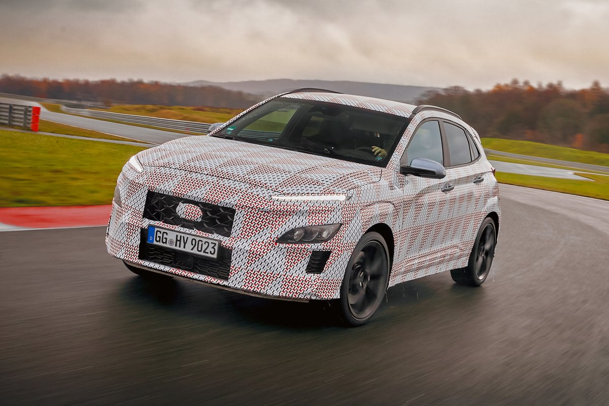 Hot @Hyundai Kona N crossover officially announced with a turbocharged engine and eight-speed dual-clutch automatic