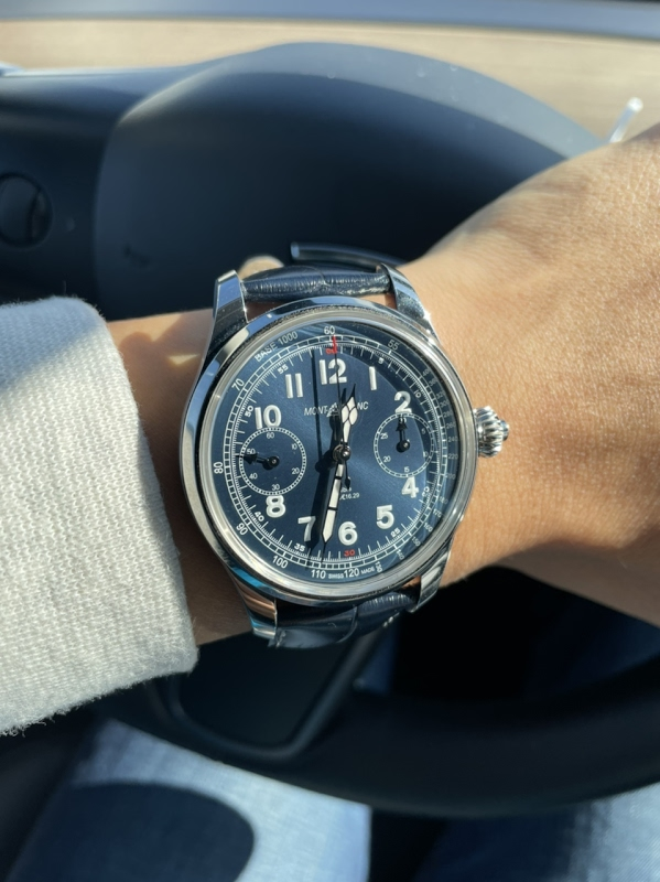 Replying to @PuristSPro: 1858 Tachymeter  #Montblanc #1858Collection