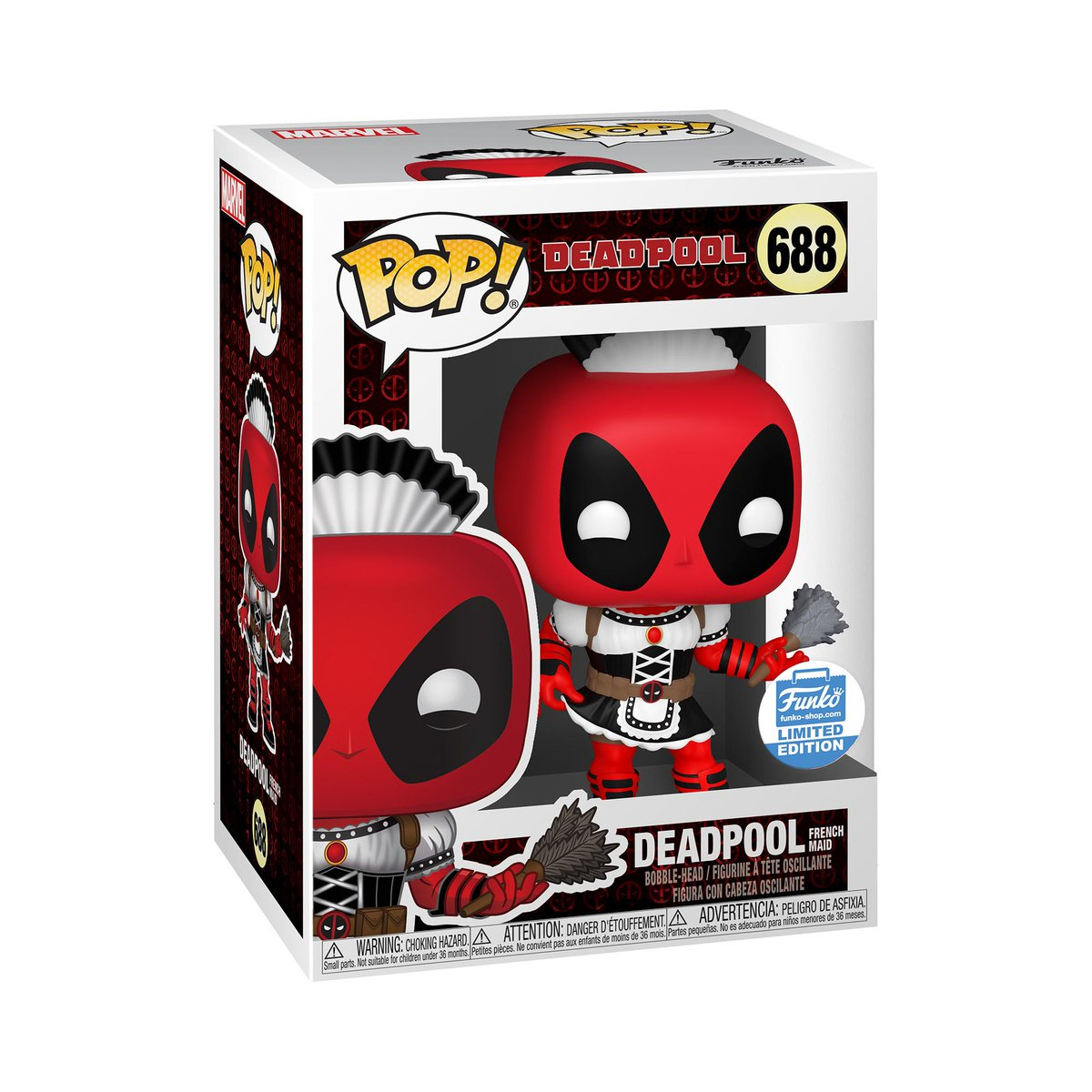 RT & follow @OriginalFunko for the chance to WIN this Funko exclusive Deadpool (French Maid) Pop! #Funko #FunkoPop #FunkoGiveaway #Deadpool