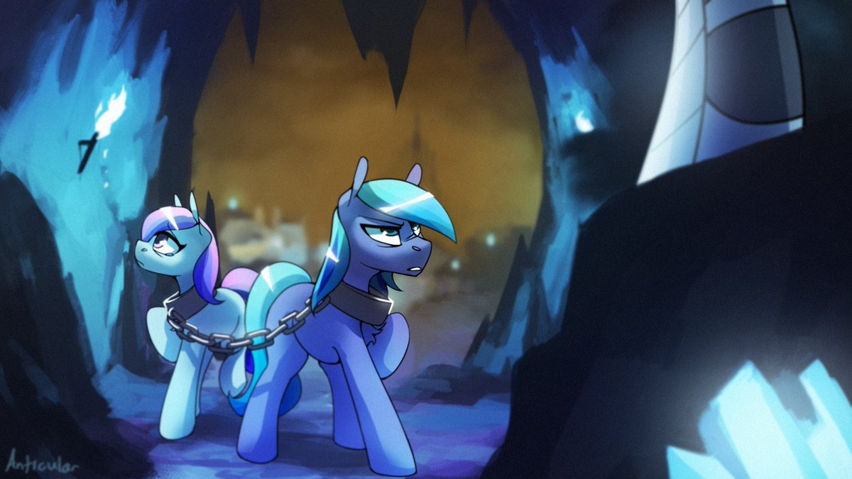 Commission for @4everfreebrony's song! Cry of the Crystal Slaves. Check it out here! youtube.com/watch?v=oK6RL8…