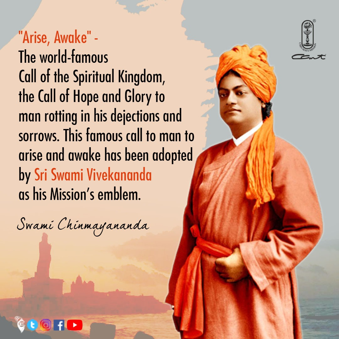 Salutations to the Master, #SwamiVivekananda on His 159th Jayanti. His work remains unfathomable and transforming at both spiritual and social levels for every Indian and people across the globe.  ⠀ #chinmayamission #SwamiChinmayananda #nationalyouthday #youthempowerment