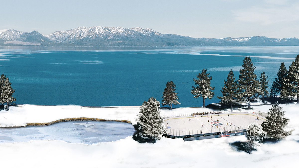 The NHL needs to think beyond baseball and football fields for its outdoor games going forward. This Lake Tahoe rendering is siiiiick