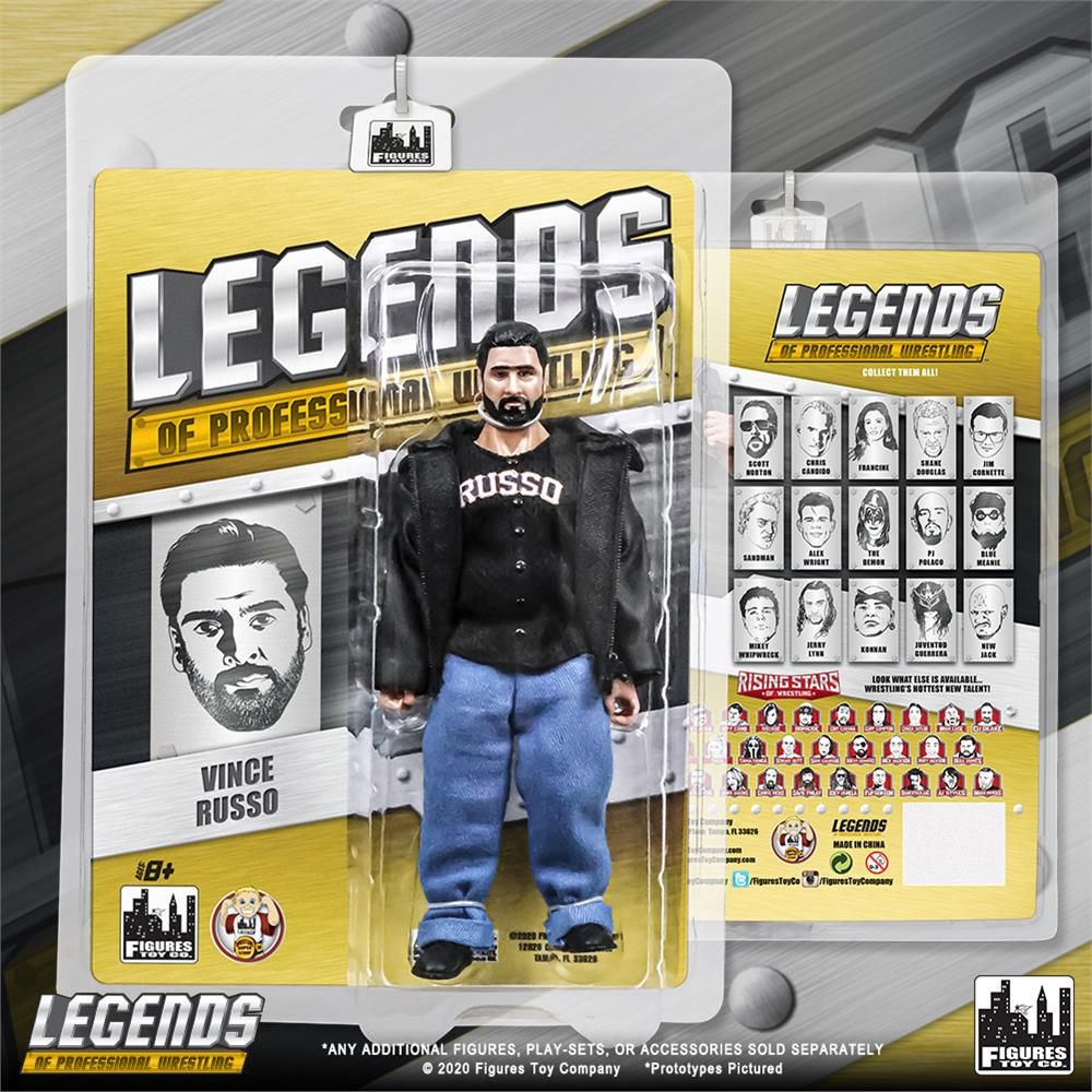 Let our #Legends line take you back to Monday nights in the 90's when attitude ruled the airwaves! Order the first ever @THEVinceRusso action figure today! #WWF #WWE #WCW #MondayNightWars #AttitudeEra #ftctoys