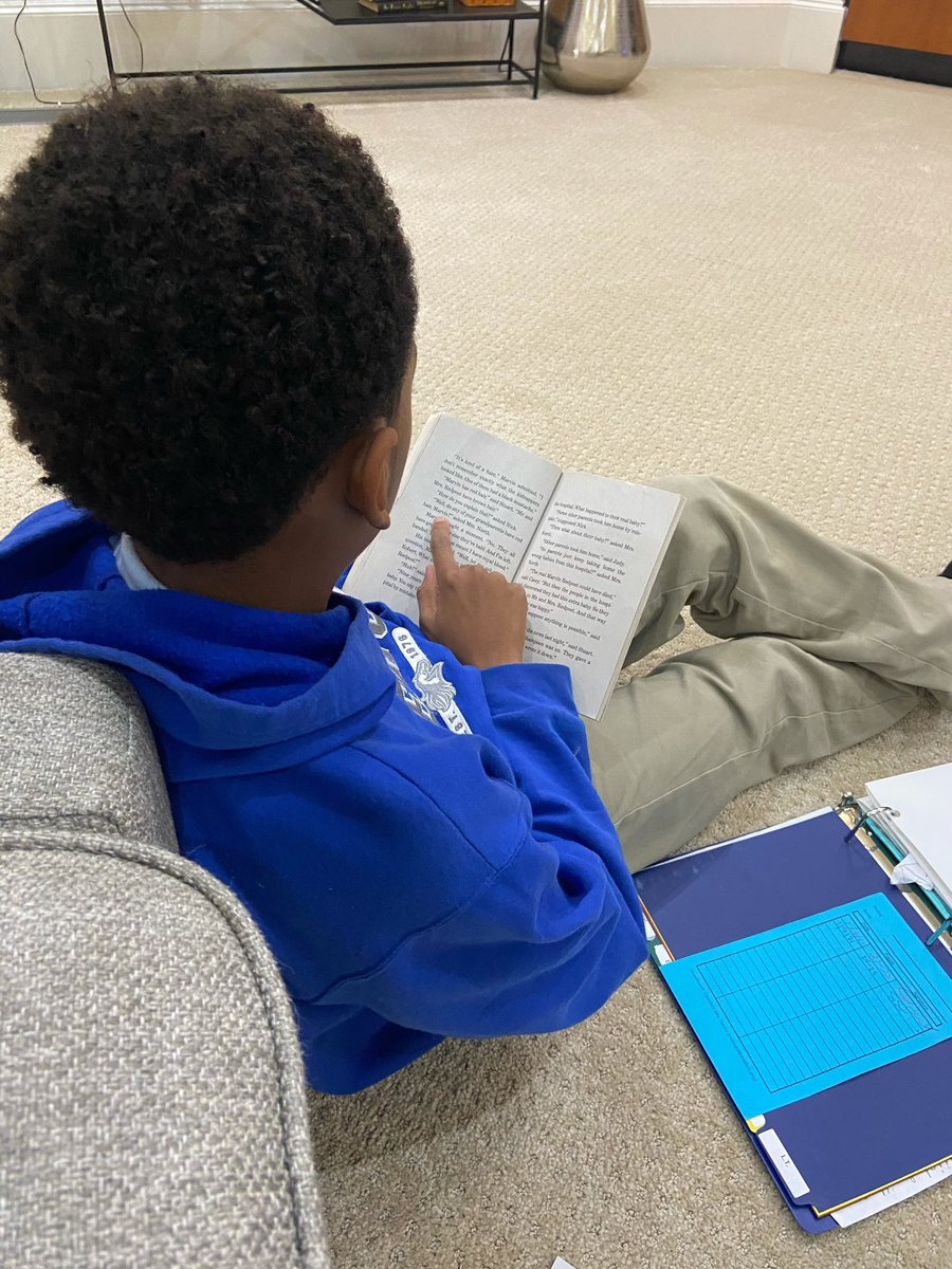 There's nothing better than seeing your kids grow up before your eyes. It used to be Elijah asking me to read to him, now he's reading to me! 😄