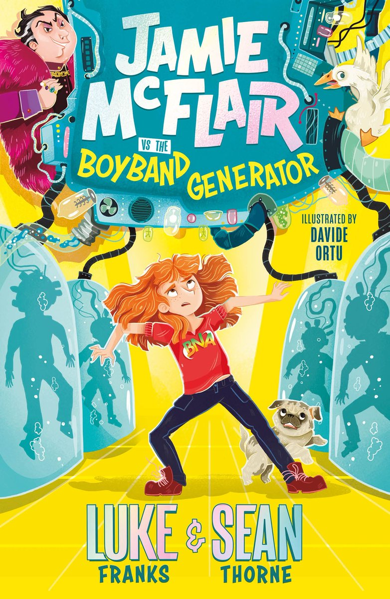 We're excited to have an EARLY copy of Jamie McFlair vs the Boyband Generator to give away to a lucky reader 8+  Be one of the first to read this hilarious series by @luke_franks & @seanAthorne before it comes out in March.  Enter here:  @Hachettekids