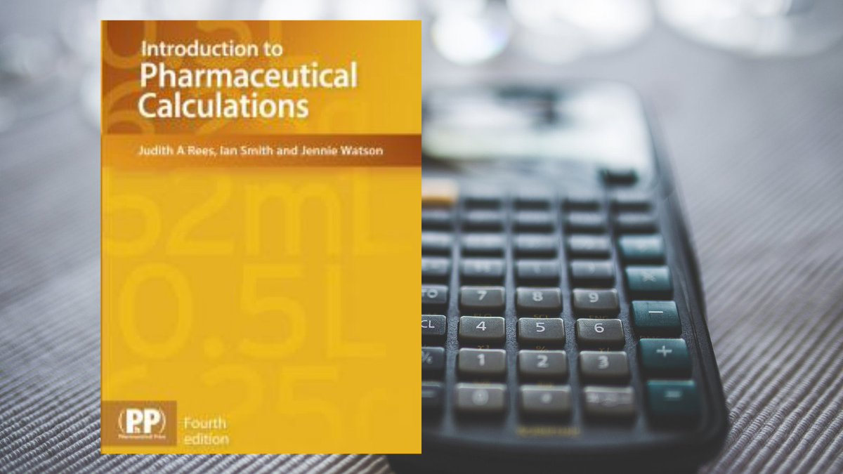 New ebook...Introduction to Pharmaceutical Calculations. Access it at: . Register for an OpenAthens account at: