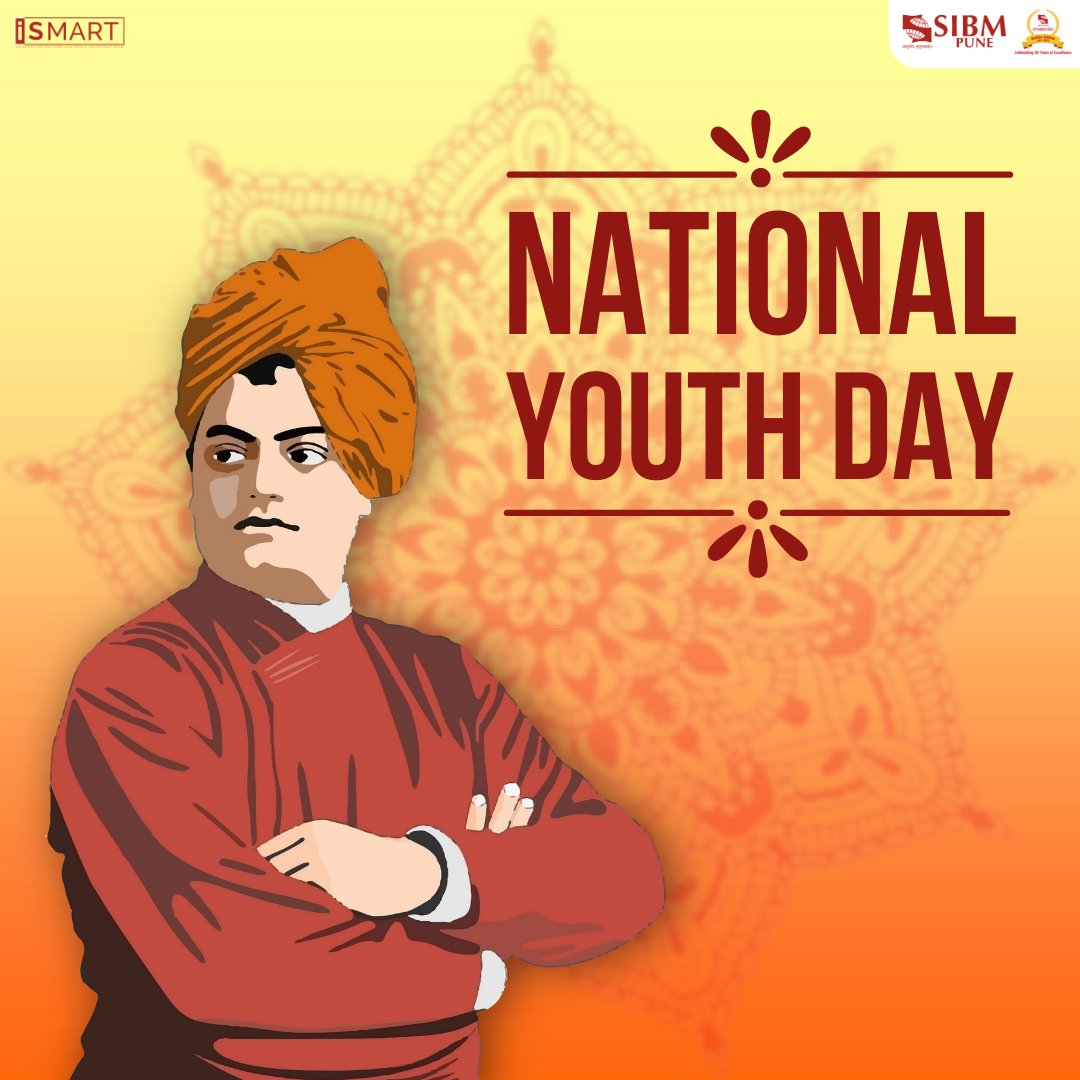 SIBM Pune pays tribute to one of India's greatest social and spiritual leaders, Swami Vivekananda, who personified the eternal energy of the youth and a restless quest for truth.   #SIBMPune #NationalYouthDay https://t.co/kHPRAb2Jmv