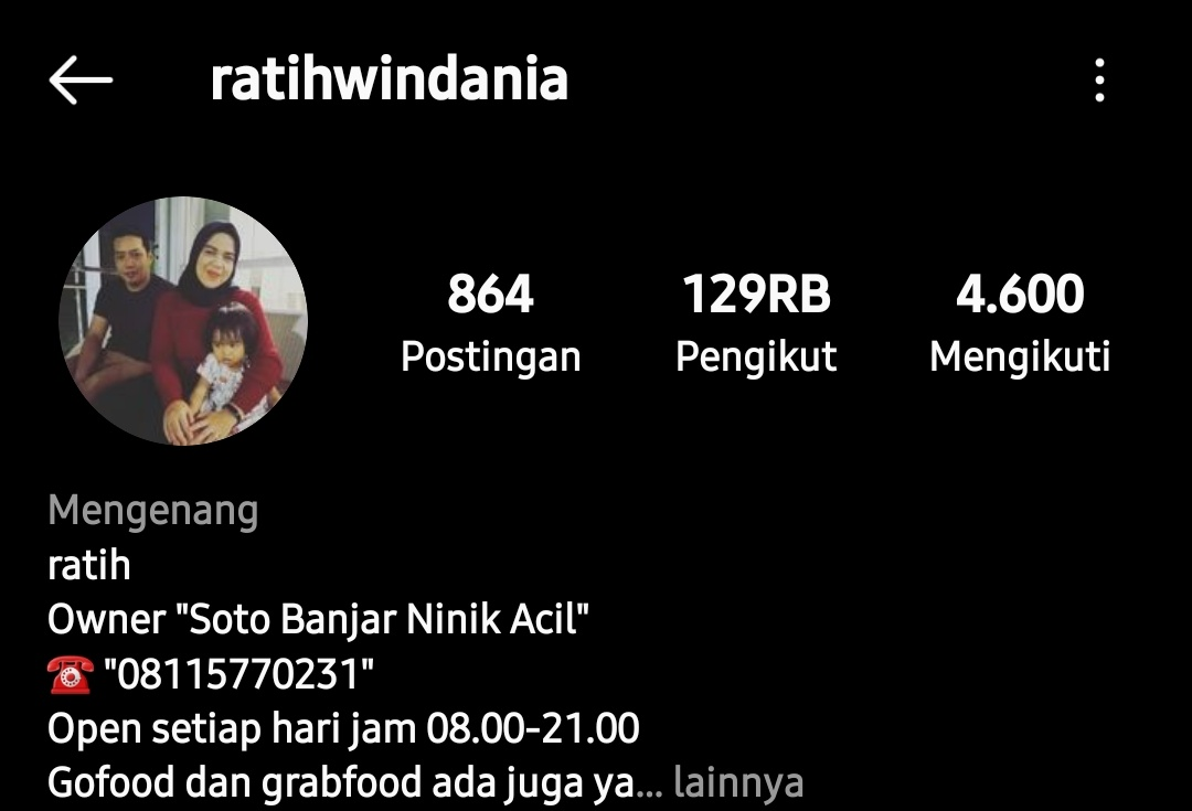 Instagram Ratih Widania