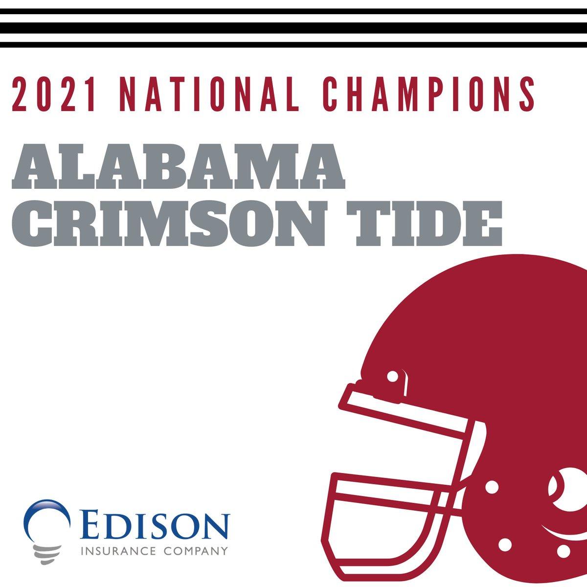 Congratulations to the Alabama Crimson Tide. #NationalChampionship